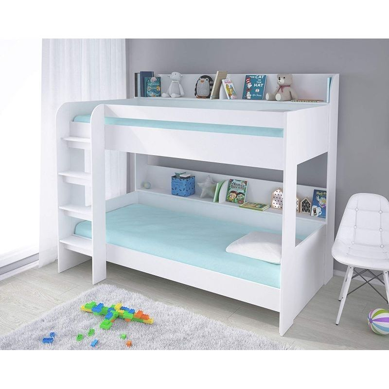 Kidsaw Mfc Bunk Bed 4ft White Aerial Bed Frame Buy Online At Qd Stores