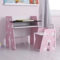 See more information about the Kidsaw Star Desk & Chair Pink