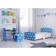 See more information about the Kidsaw Kids Bed 2ft 6in Blue Star Junior Toddler Bed Frame