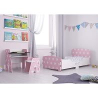 See more information about the Kidsaw Kids Bed 2ft 6in Pink Star Junior Toddler Bed Frame