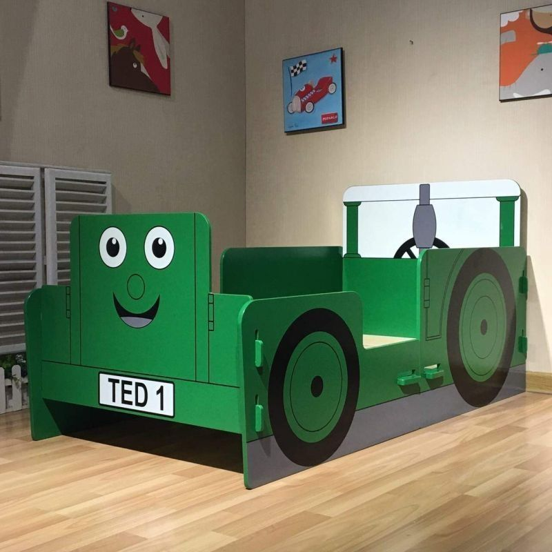 Tractor Toddler Bed Green