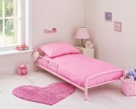 See more information about the Kidsaw Starter Toddler Bed Bundle Metal - PINK