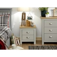 See more information about the Lancaster Bedside Grey & Oak 2 Drawers