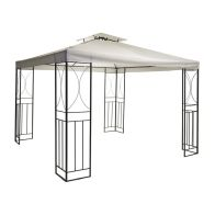 See more information about the Party Tent Steel Art Garden Gazebo with Fly Screen Cream 3M x 3M