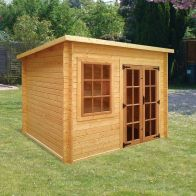 See more information about the Albany Sheds Charnwood 8' x 8' Pent Wood Garden Summer House
