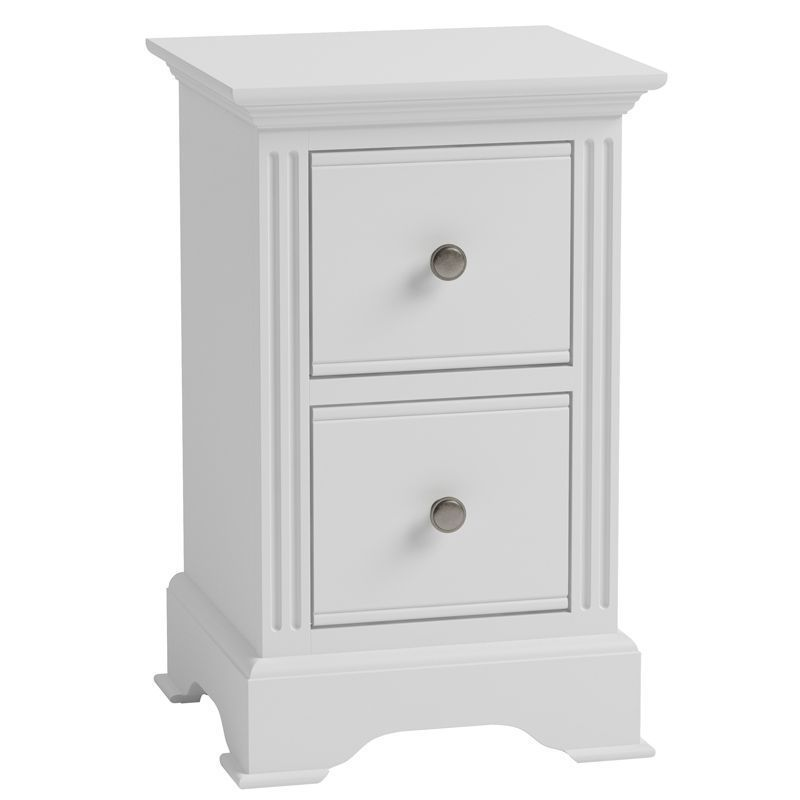 Banbury Small Bedside Table White
