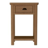 See more information about the Rutland Oak Telephone Table Rustic