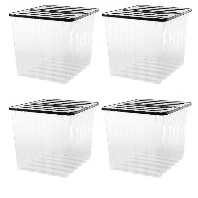 4 Pack X 110l Strata Supa Nova Extra, Extra Long Plastic Storage Boxes