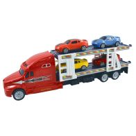 See more information about the Team Power Transporter Truck With 4 Cars Red 30cm