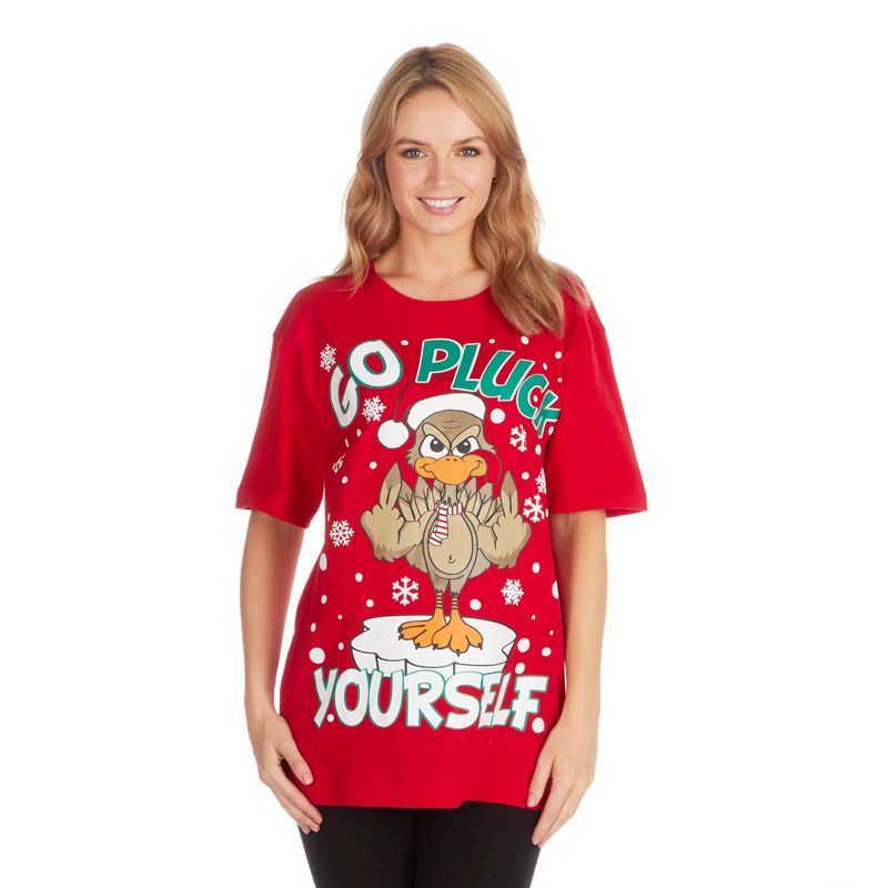 Unisex Christmas Pluck T-Shirt - Small