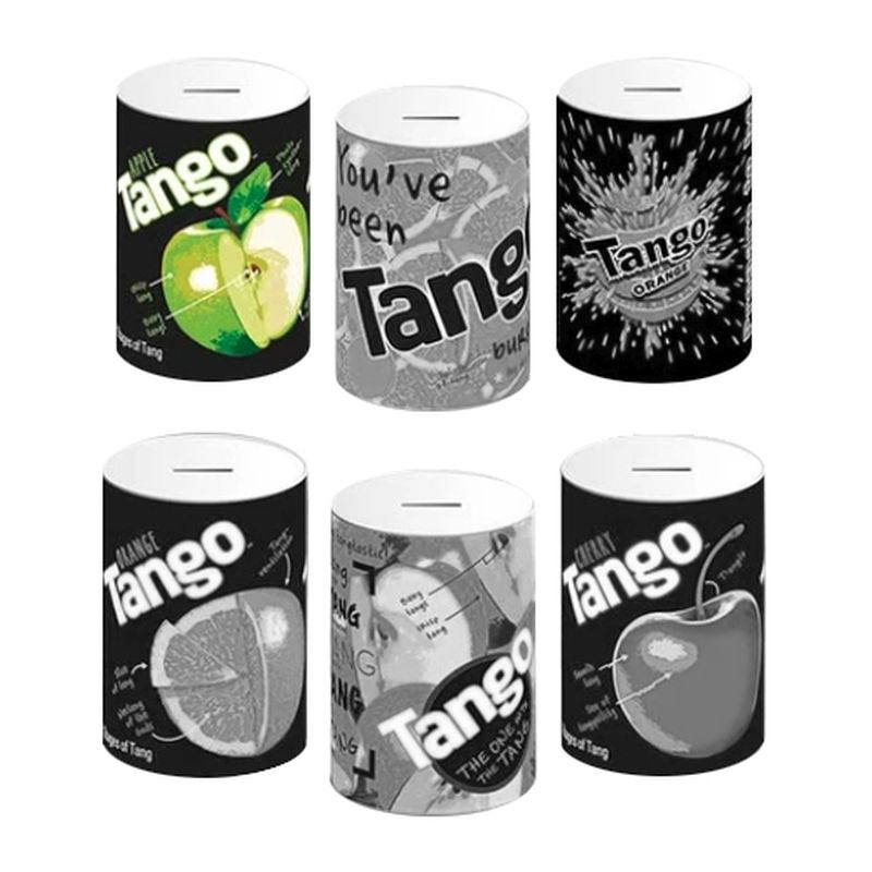 Apple Tango Money Tin 10x15cm - Black