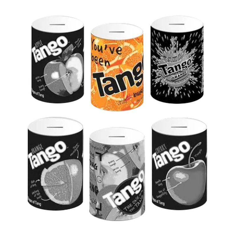 Orange Tango Money Tin 10x15cm - Orange
