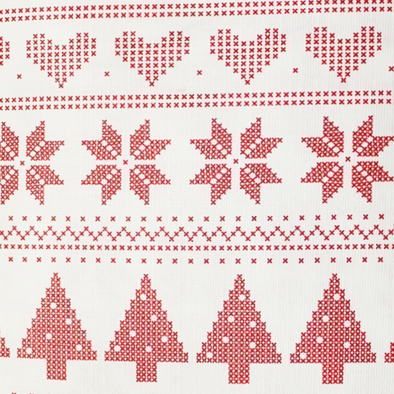 Christmas PEVA Tablecloth - Red White Pixels 50 x 90""