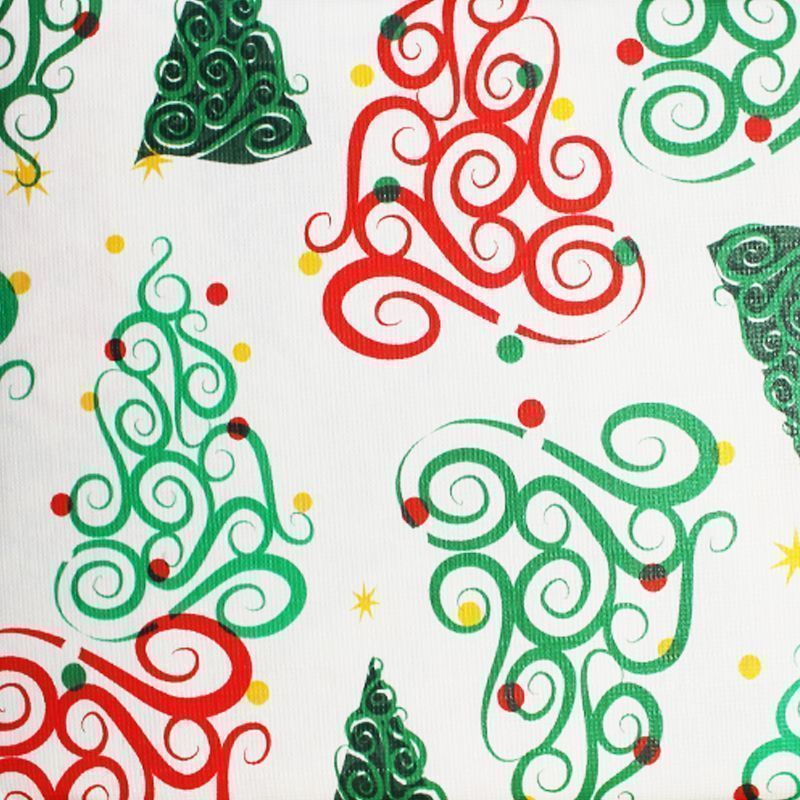 Christmas PEVA Tablecloth - Curly Trees 50 x 50""