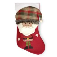 See more information about the Santa With Tartan Hat 20 Inch Stocking