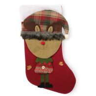 See more information about the Reindeer With Tartan Hat 20 Inch Stocking