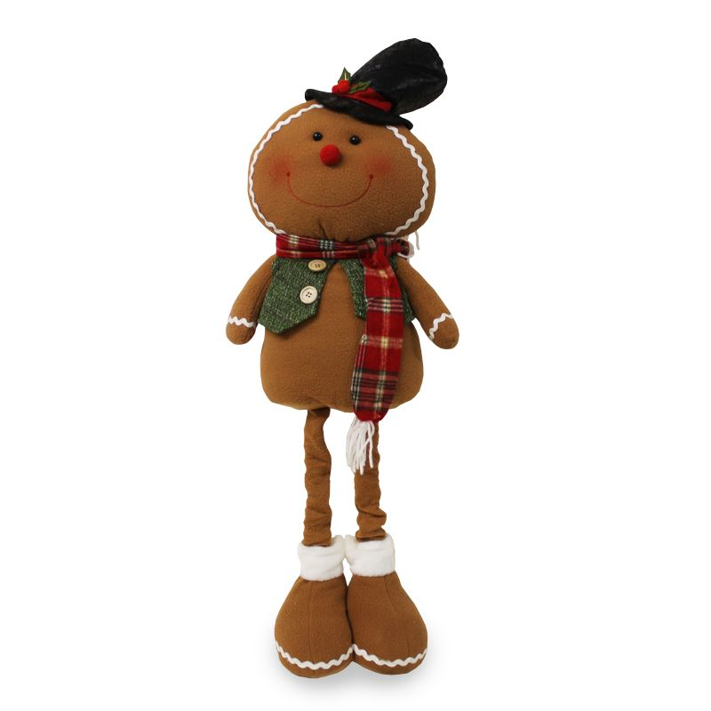 Extendable Standing gingerbread Figure 36 Inch - Top Hat