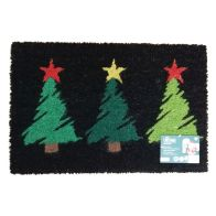 See more information about the JVL Christmas Coir Door Mat 40 x 60cm 3 Trees