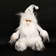 See more information about the Sitting Santa Figure - White