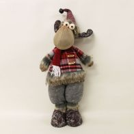 See more information about the 19 Inch Standing Reindeer - Red & Grey Hat