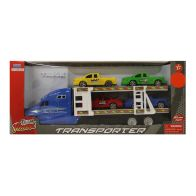 See more information about the Team Power Transporter Truck With 4 Trucks Blue 30cm