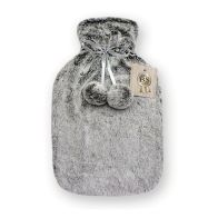 See more information about the Hamilton McBride Faux Fur Hot Water Bottle 2 Litre - Light Grey