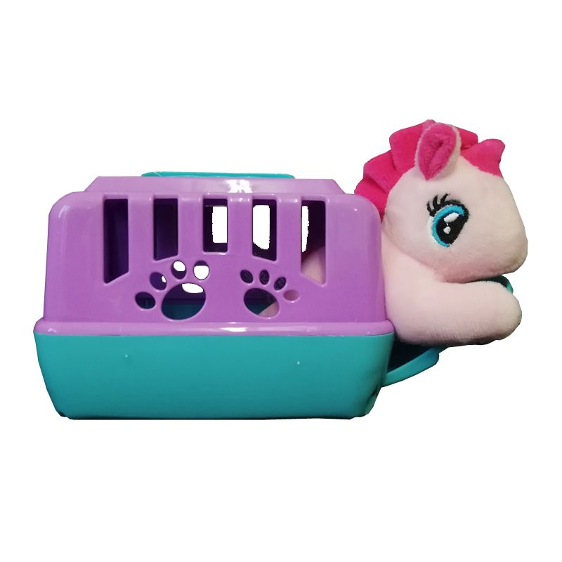 Pink Unicorn Plush Toy With Carry Case 13cm