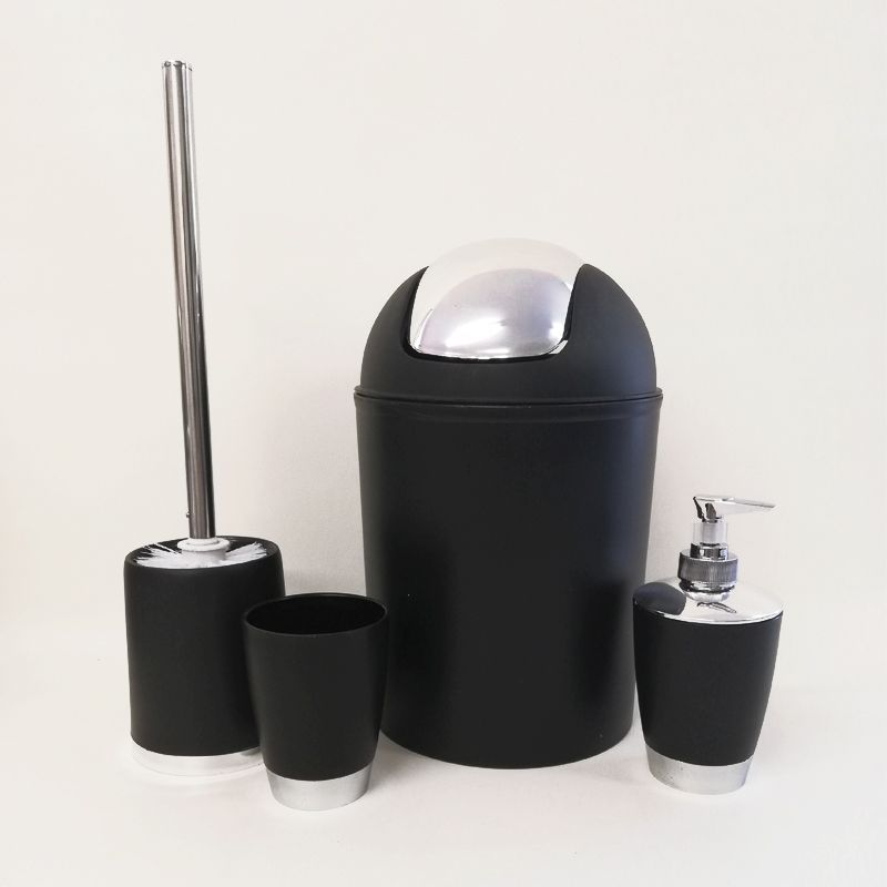 Bathroom Set 4 Pieces - Black