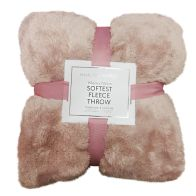 See more information about the Hamilton McBride 150x200 Bear Fleece Throw Pink