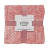 See more information about the Hamilton McBride Jacquard Flannel Throw Pink 150 x 200cm