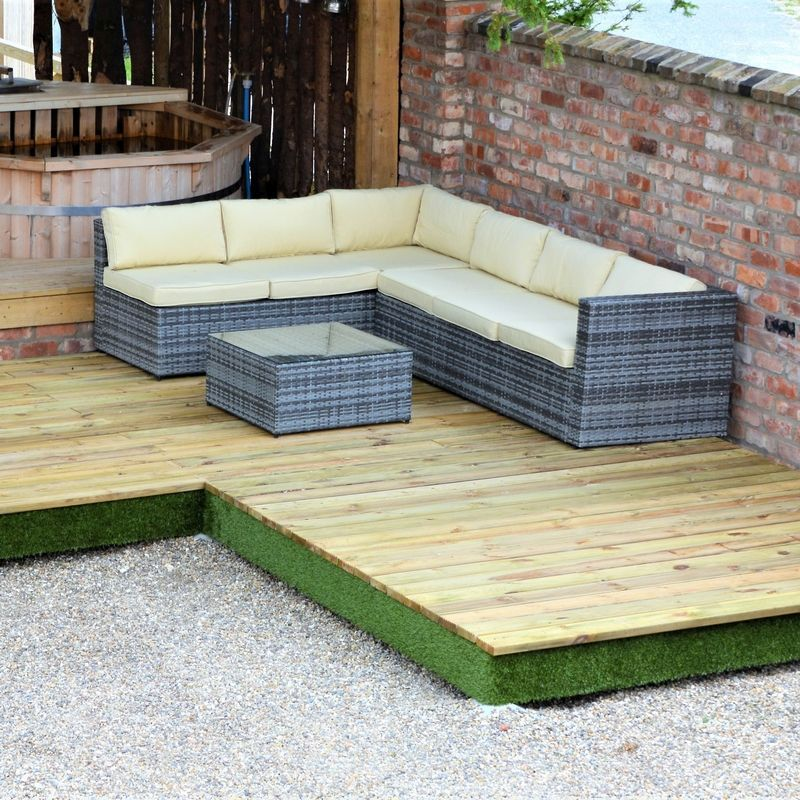 Swift Deck Premium Garden Decking Kit 4.75 x 4.7m - Corner