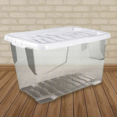 100L Curve Extra Large Clear Stacking Box & Clear Lid