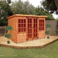 See more information about the Albany Sheds Farndon 10' x 6' Pent Shiplap Wood Garden Summer House