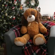 See more information about the Jumbo Dog Plush Cuddly Toy 100cm