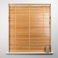See more information about the Universal 60cm x 50mm Slat Natural Wood Venetian Blind