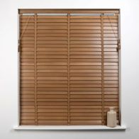 See more information about the Universal 60cm x 50mm Slat Oak Wood Venetian Blind