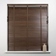 See more information about the Universal 60cm x 50mm Slat Walnut Wood Venetian Blind