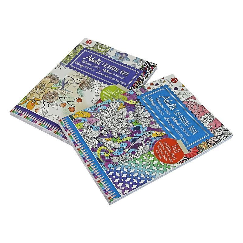 Adult Colouring Book (Blue)