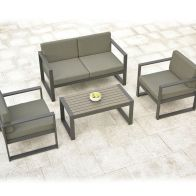 See more information about the San Remo 4 Piece Garden Sofa Set Aluminium