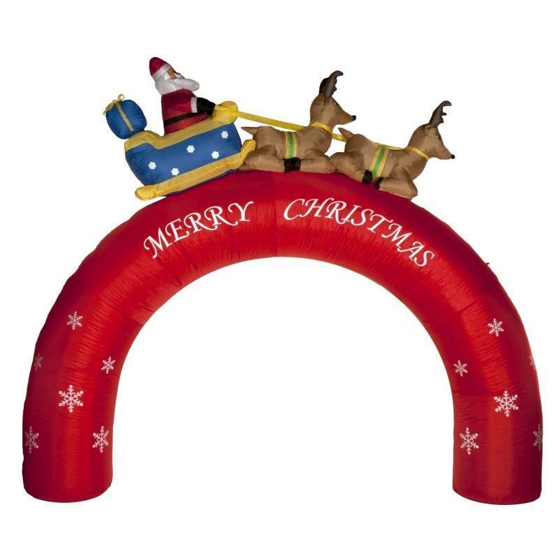 214cm inflatable arch with merry christmas greeting for Christmas arch diy