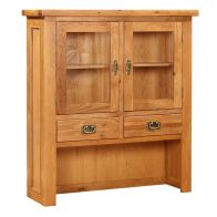 See more information about the Cotswold Oak Small Hutch For Oak 2 Door 2 Drawer Sideboard Furniture