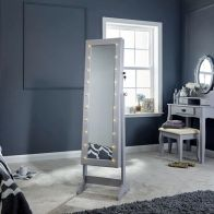 See more information about the Amoire MDF Grey Glass Mirror With LED Illumination