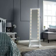 See more information about the Amoire MDF White Glass Mirror With LED Illumination