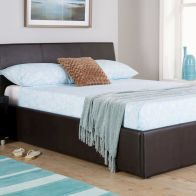 See more information about the Ascot Brown Faux Leather End Lift Ottoman King Size 5ft Bed Frame