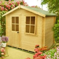 See more information about the Shire Avesbury Untreated 19mm Garden Log Cabin 9' x 9'