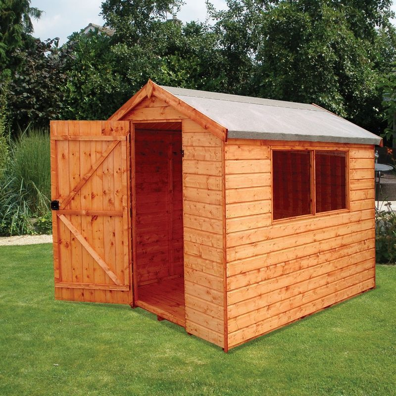 Albany Norfolk Garden Shed Brown 8' x 6'