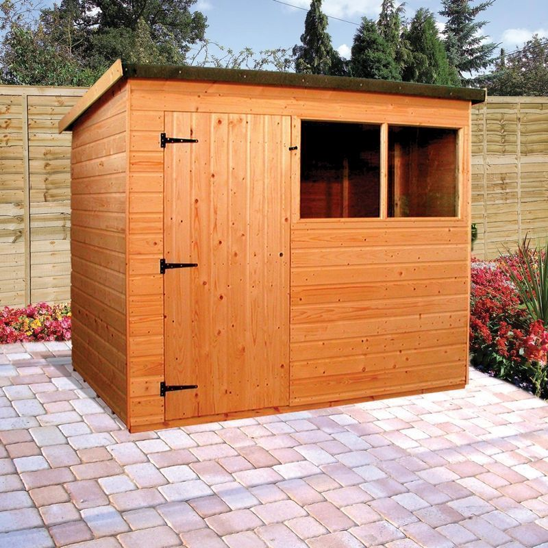 Albany Suffolk Garden Shed Brown 8' x 6'