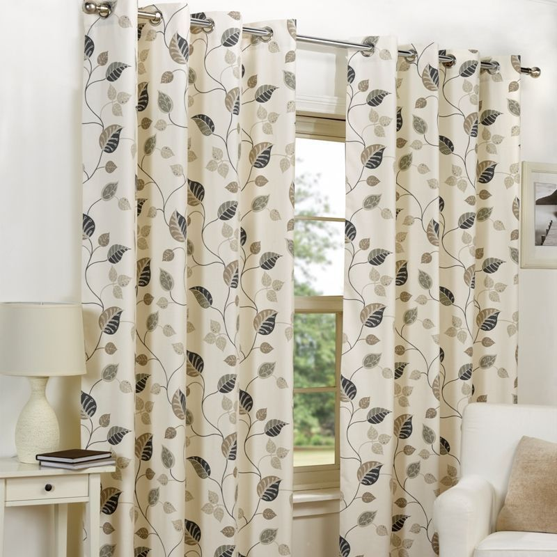 "Fusion April Curtains (45"" Width x 72"" Drop) - Taupe"