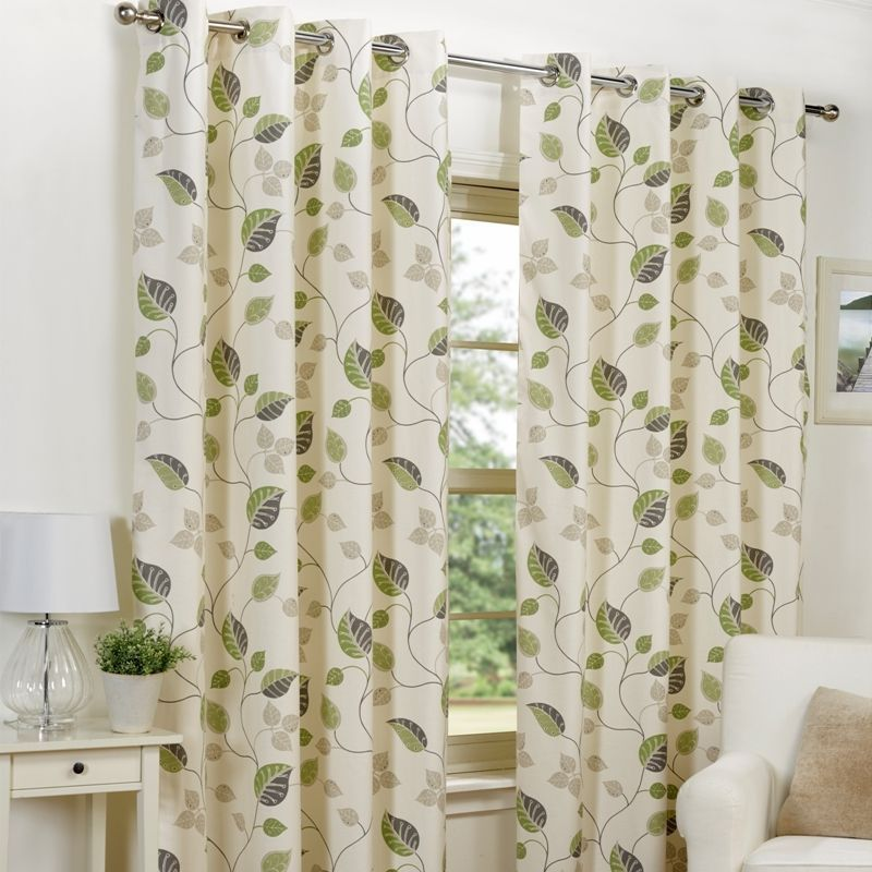 "April Curtains (45"" Width x 54"" Drop) - Green"