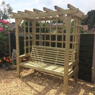 See more information about the Croft Beatrice 3 Seat Garden Arbour
